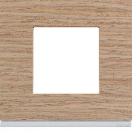 HAGER Plaque 1P oak wood - APPAREILLAGE MURAL GALLERY HAGER WXP4702
