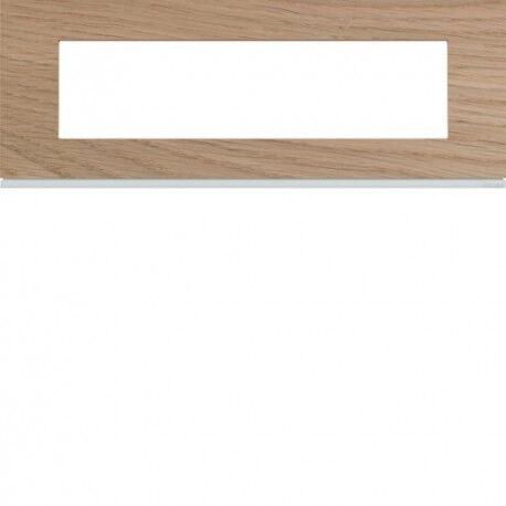 HAGER Plaque 8M E71 oak wood - APPAREILLAGE MURAL GALLERY HAGER WXP4708