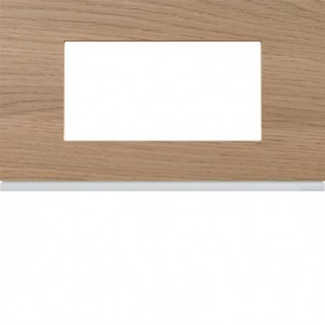 HAGER Plaque 4M E57 oak wood - APPAREILLAGE MURAL GALLERY HAGER WXP4734