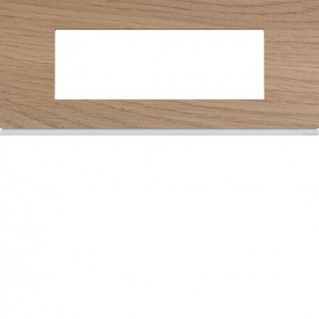 HAGER Plaque 6M E57 oak wood - APPAREILLAGE MURAL GALLERY HAGER WXP4706