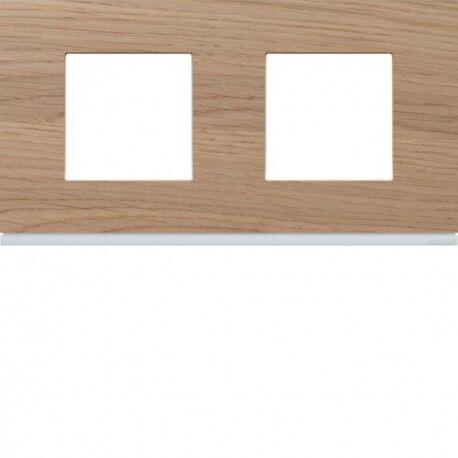 HAGER Plaque 2P H71 oak wood - APPAREILLAGE MURAL GALLERY HAGER WXP4712