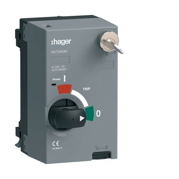 HAGER Mot.P250 48VDC ss AR+clé - APPAREILLAGE DE TETE HAGER HXT049HK