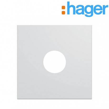 HAGER Enjoliveur prise TV 2 modules pure GALLERY HAGER WXD251B