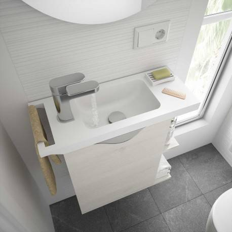 SALGAR Plan vasque MARTHA 555 solid surface blanc mat - SALGAR 24785