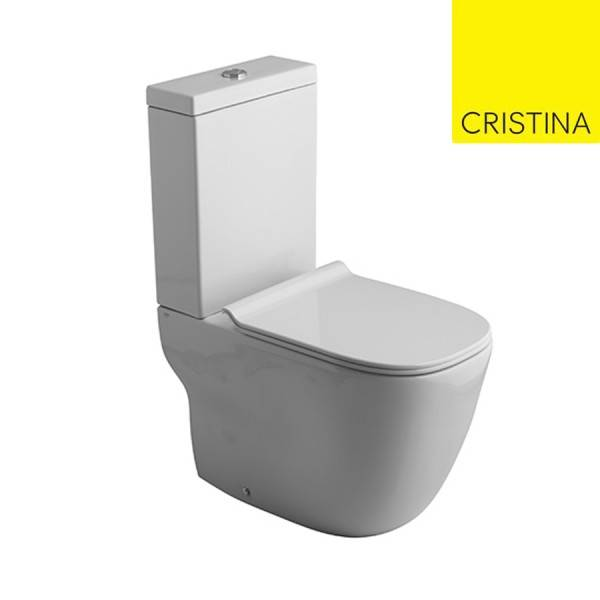 CRISTINA ONDYNA BLOC WC MONOBLOC WILD BTW AVEC RESERVOIR ET ABATTANT WHITE - CRISTINA ONDYNA WWL3013