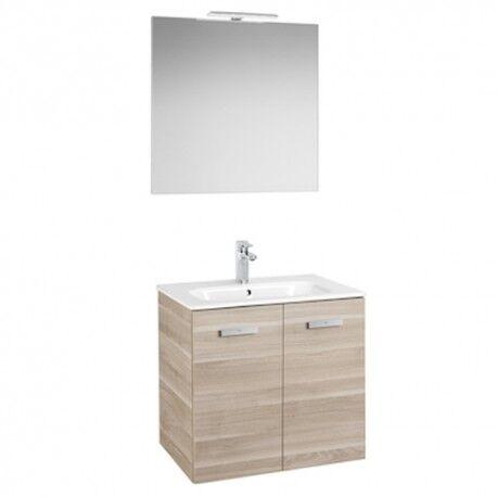 ROCA Pack salle de bains: meuble 2 portes 700 , miroir et applique Unik Victoria Bouleau - ROCA A855898422