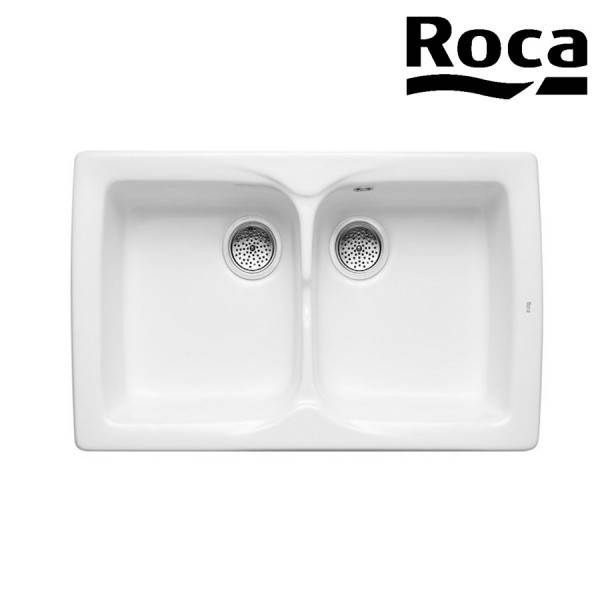 ROCA Beverly/86 2 Bacs Evier Blanc - A366057000