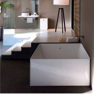 CRISTINA ONDYNA Baignoire carrée en Solid Surface 1200x1200 Blanc Dual Quadrata - CRISTINA ONDYNA COLBQUA120 - Publicité