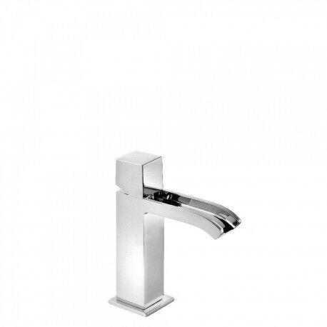 TRES Mitigeur lavabo avec robinet cascade bec ouvert Chromé CUADRO-TRES - TRES 00611002D