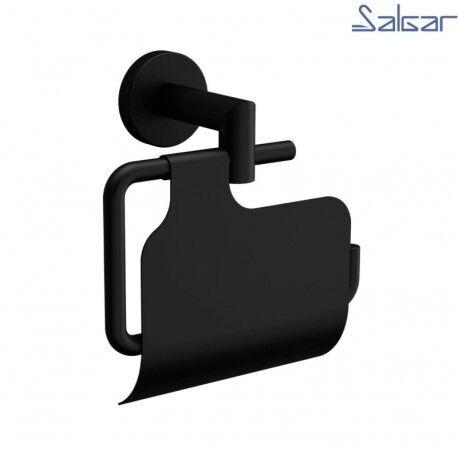 SALGAR Porte-rouleau Noir mat avec couvercle LISSY - SALGAR 82198