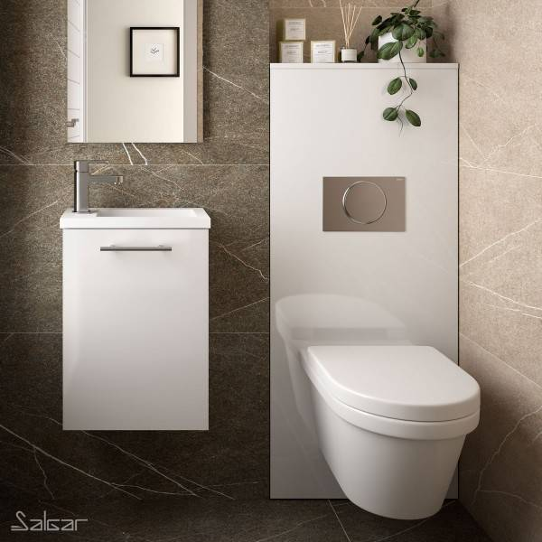 SALGAR Habillage Bati-Support pour WC suspendu Blanc Brillant NOJA - SALGAR 87798