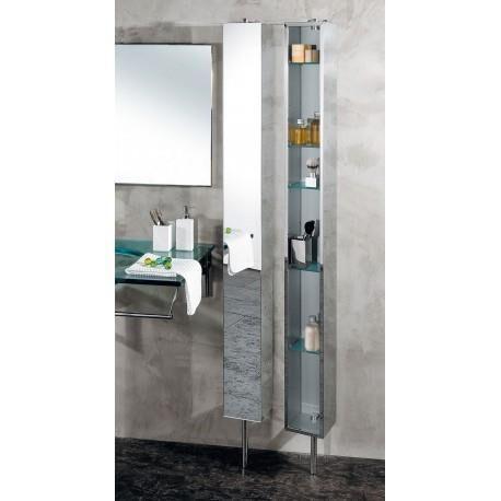 CRISTINA ONDYNA Armoire de salle de bain Inox tournante avec Miroir - CRISTINA ONDYNA PK51506