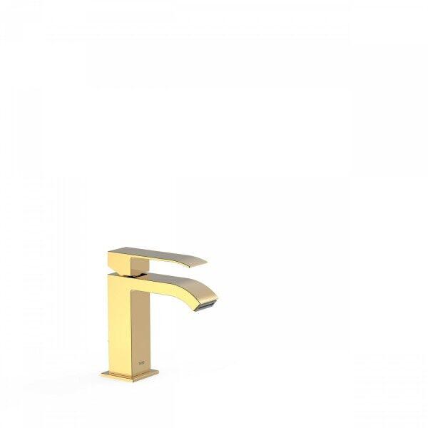 TRES Mitigeur doré pour lavabo avec bec cascade - TRES 00610101OR