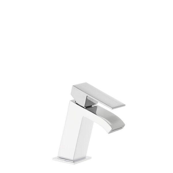 TRES Mitigeur lavabo avec bec cascade Blanc Chromé - TRES 00620101BL