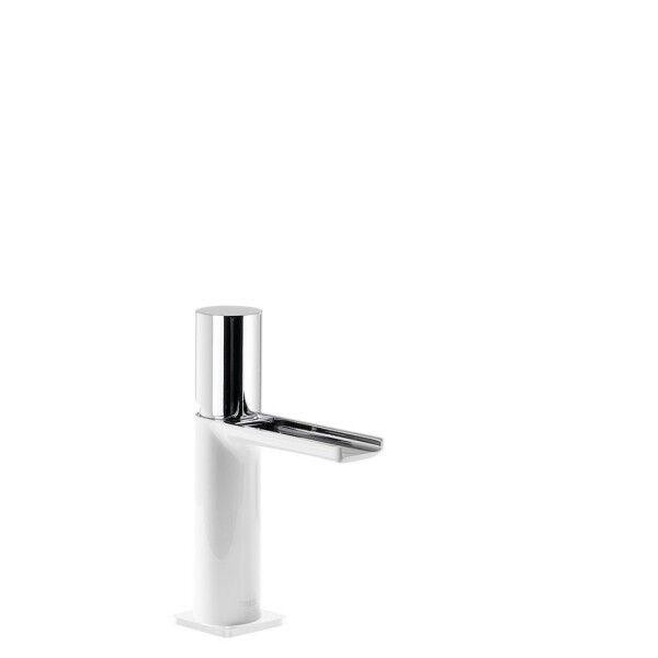TRES Mitigeur lavabo cascade bec ouvert Blanc Chromé - TRES 20011002BL