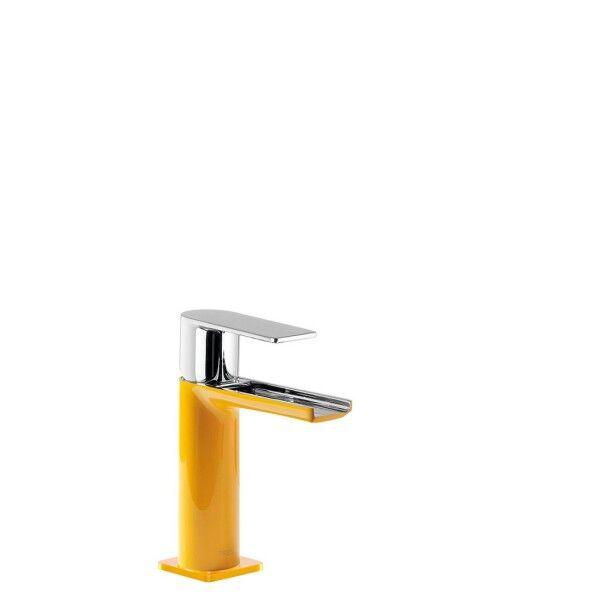 TRES Mitigeur lavabo robinet cascade bec ouvert Ambre/Chromé - TRES 20011001AM