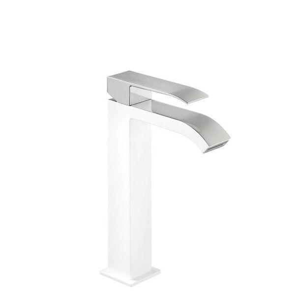 TRES Mitigeur lavabo avec bec cascade Blanc - TRES 00661001BL