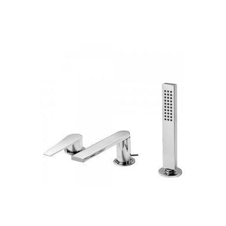 TRES Mitigeur bain d'étagère CLASS avec douchette anticalcaire - TRES 20516103