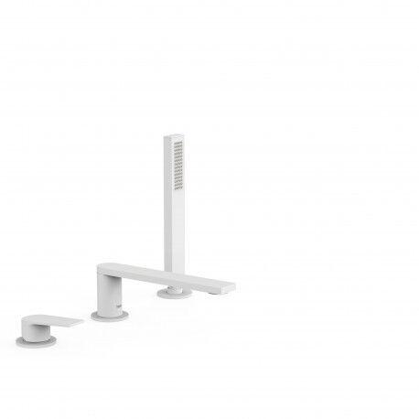 TRES Mitigeur bain d'étagère avec douchette anticalcaire - TRES 21116101BM