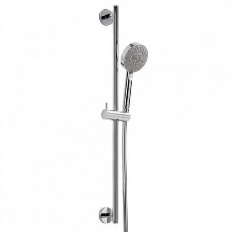 TRES Kit barre‑douche MINIMAL Ø 19 mm. Long. 850 mm. Flexible satin - TRES 134629