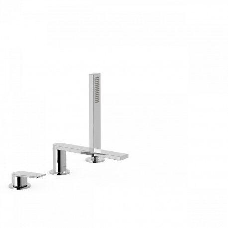TRES Mitigeur bain d'étagère avec douchette anticalcaire - TRES 21116101