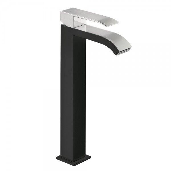 TRES Mitigeur lavabo avec bec cascade Noir Chromé - TRES 00681001NE