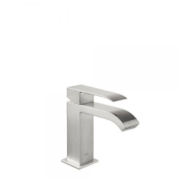 TRES Mitigeur lavabo avec bec cascade Acier - TRES 00610101AC