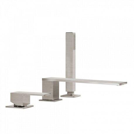 TRES Mitigeur bain d'étagère avec douchette anticalcaire - TRES 00616103AC