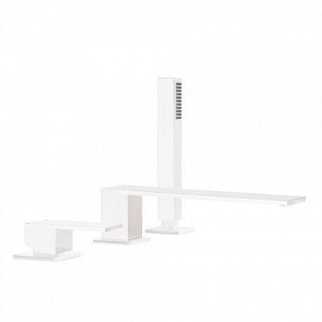 TRES Mitigeur bain d'étagère avec douchette anticalcaire - TRES 00616103BM