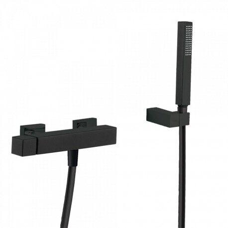 TRES Mitigeur douche Douchette à main anticalcaire avec support orientable et flexible. - TRES 00716703NM