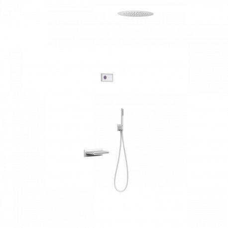 TRES Kit de baignoire thermostatique électronique et encastré SHOWER TECHNOLOGY · Con - TRES 09286320BM