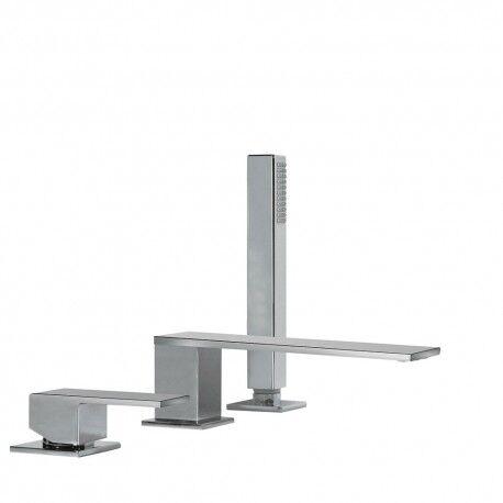TRES Mitigeur bain d'étagère CUADRO avec douchette anticalcaire - TRES 00616105