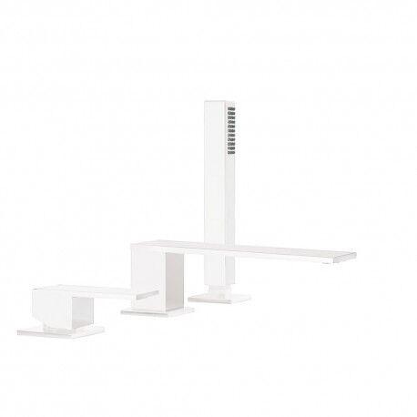 TRES Mitigeur bain d'étagère avec douchette anticalcaire - TRES 00616105BM
