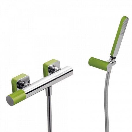 TRES Mitigeur douche Douchette à main anticalcaire avec support orientable et flexible. - TRES 20016701VE