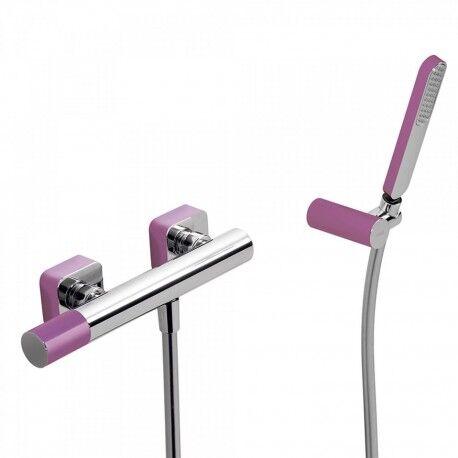 TRES Mitigeur douche Douchette à main anticalcaire avec support orientable et flexible. - TRES 20016701VI