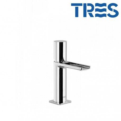 TRES Mitigeur lavabo robinet cascade bec ouvert Chrome LOFT - TRES 20011002