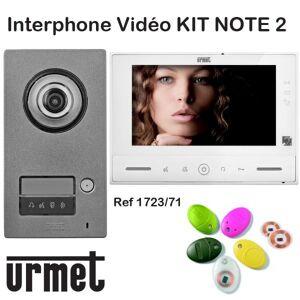 URMET Interphone video URMET KIT NOTE 2 mains libre - Contrôle d'accès - URMET 1723/71 - Publicité