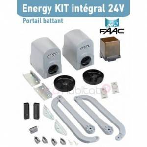 FAAC Energy Kit Intégral 24V FAAC (391) Motorisation portail 2 battants - 104575144 - Publicité