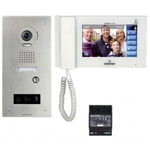 AIPHONE Kit vidéo accessibilité avec platine inox encastrée JPS4AEDFL - Aiphone 130324 - Publicité