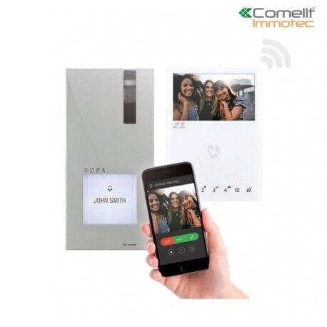 COMELIT Kit portier Vidéo Quadra et Mini WIFI 2 fils - Comelit 8451V/BM