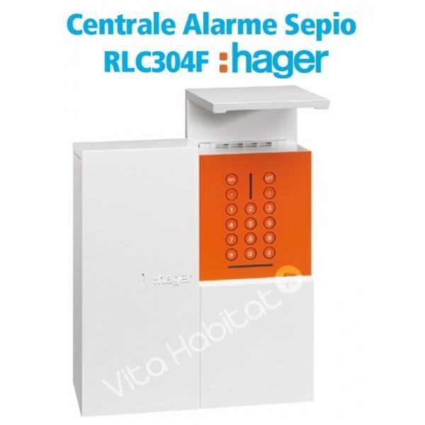 HAGER Centrale alarme radio Sepio, 4 groupes - RLC304F - Hager