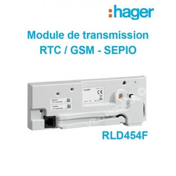HAGER RLD454F - Module de transmission. RTC/GSM/GPRS pour alarme SEPIO - Hager