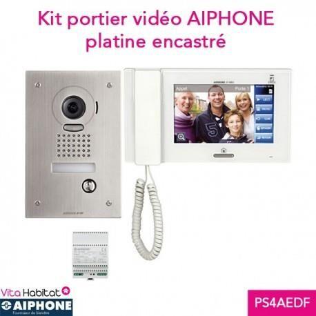 AIPHONE Kit portier Vidéo AIPHONE JPS4AEDF - Ecran 7'' - Platine Encastrée - 130319