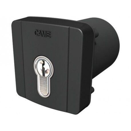 CAME Sélecteur à clé à encastrer et cylindre serrure DIN pour commandes en 230V. Gris RAL7024 CAME 806SL-0100