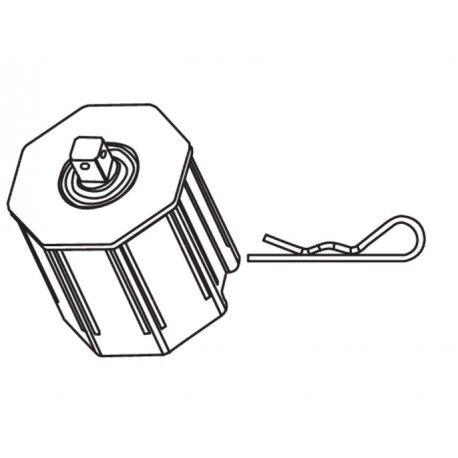 CAME Calotte octogonale 60 pivot Q10 CAME YM0154