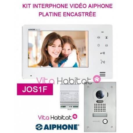AIPHONE Kit portier Vidéo AIPHONE JOS1F - Ecran 7'' - Platine Encastrée - 130401