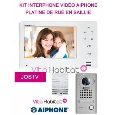 AIPHONE Kit portier Vidéo AIPHONE JOS1V - Ecran 7'' - Platine de rue en saillie - 130400