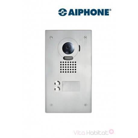 AIPHONE Platine de rue JO2DVF 2 touches pour portier vidéo AIPHONE - encastrée - 130405
