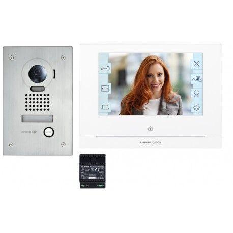 AIPHONE Kit portier Vidéo AIPHONE - Platine encastrée - module Wi-Fi intégré - JOS1FW 130414