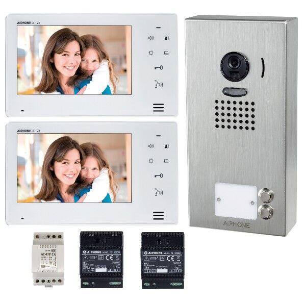 AIPHONE Kit vidéo couleur mains libres 2 BP saillie série JO - Aiphone - 130409